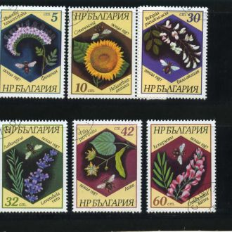 Болгария, ПЧЕЛЫ . 1987 год  гашеная.