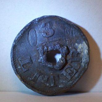 Пиво, жетон на 1/3 литра, Галиция, 1910-ые