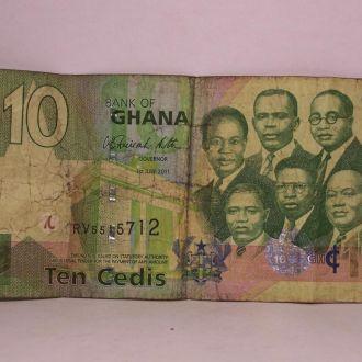10 седи, Гана, ten cedis, 2011 год
