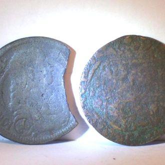 Фальшивие средневековые монеты,Украина,Польша,17в.