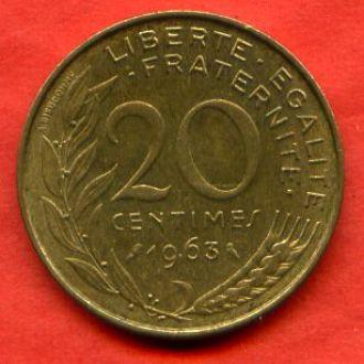 20 сантимов 1963