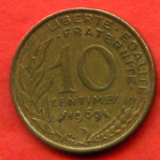 10 сантимов 1969