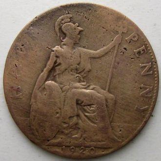 Великобритания 1/2 пенни 1920 год