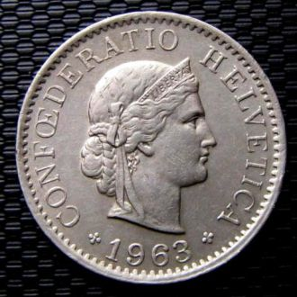 Швейцария 5 раппен 1963 год