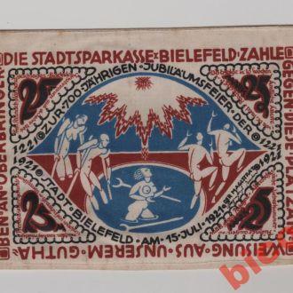 Бiлефельд , Bielefeld , 25 пфенiнгiв 1921 р.