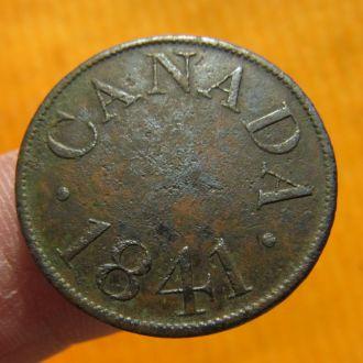Канада 1/2 (пол) пенни 1841 РЕДКОСТЬ!!!