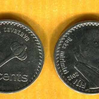 Фиджи 10 центов 2012 фауна