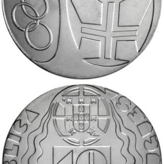 Португалия 10 евро 2004 олимпиада Афины UNC Ag