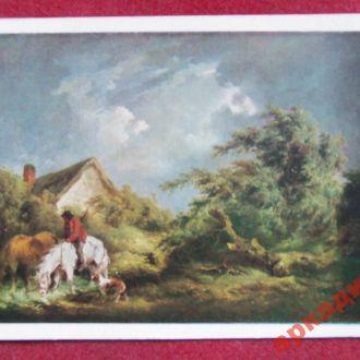 открытки(пейзаж) антиквар-худМорланд 1956г
