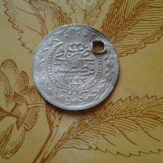 Монета Османской империи. Серебро.