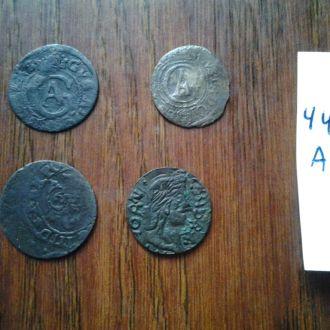 4 Серебрянных  средневековых монет.