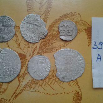 6 Серебрянных  средневековых монет.