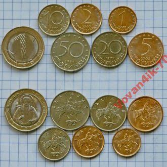 БОЛГАРИЯ - набор монет 7 с