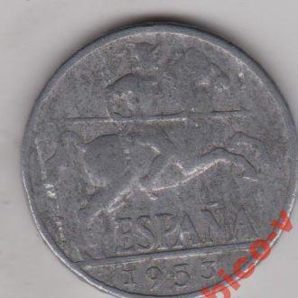 Іспанiя , 10 сантимiв 1953 р.