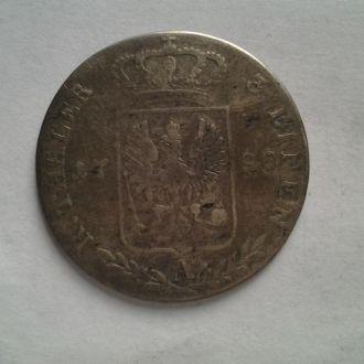 Пруссия, 1/3 талера 1790г. Редкая. Серебро.