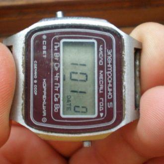 часы Электроника 5 рабочие 12013
