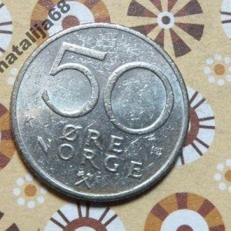 Норвегия 1983 год монета 50 эре !