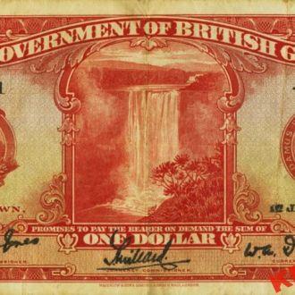 Британская Гвиана 1 доллар 1929 год. КОПИЯ