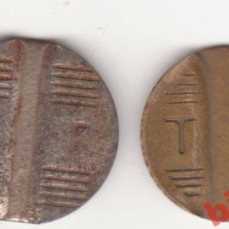 Луганськ , 2 рiзних телефонних жетони .