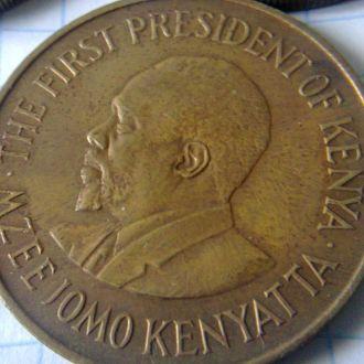 монета 10 центов Кения 1978 г.