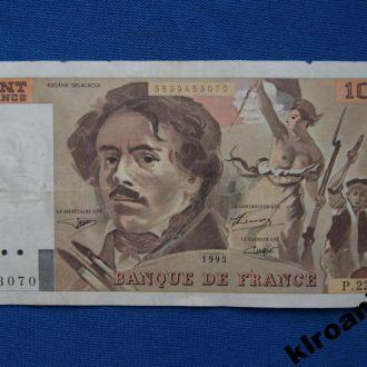 Франция 100 франков 1993 г  Де Лакруа СУПЕР !!