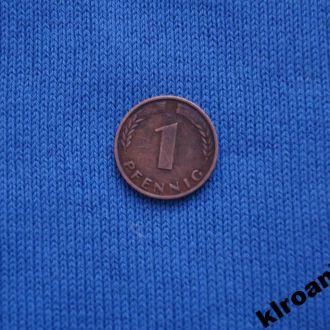 Германия 1950 г  1 пфенинг F