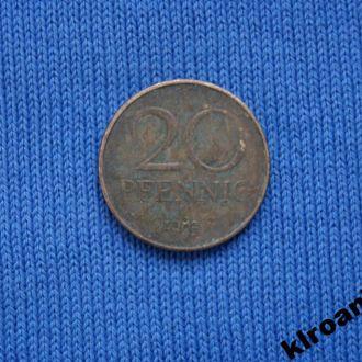 ГДР 20 пфеннигов 1983 г