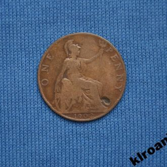 Великобритания 1 пенни 1902 Эдуард VII