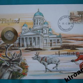 Финляндия 1 пенни  1979 г UNC + конверт