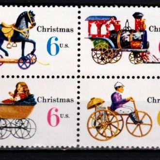 USA 1970 CHRISTMAS, СЦЕПКА **
