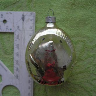 Елочная игрушка стекло СССР Ёжик
