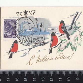 С Новым годом! Кузгинов 1960 Спецгашение Чистая