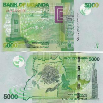 Uganda Уганда - 5000 Shillings 2013 UNC JavirNV