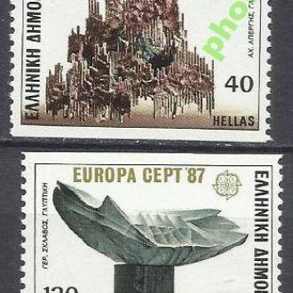 Греция 1987 Европа СЕПТ архитектура 2м.**