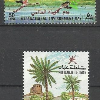 Оман 1987 фауна птицы охрана природы 2м.**