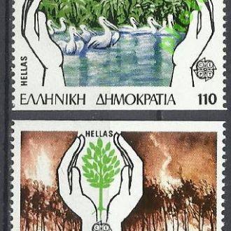 Греция 1986 Европа СЕПТ фауна птицы 2м.**