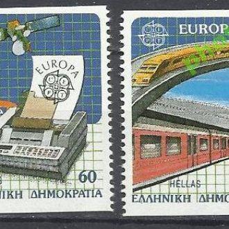 Греция 1988 Европа СЕПТ транспорт железная дорога
