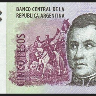АРГЕНТИНА. 5 Песо - 2003 г. (Pick № 353). UNC