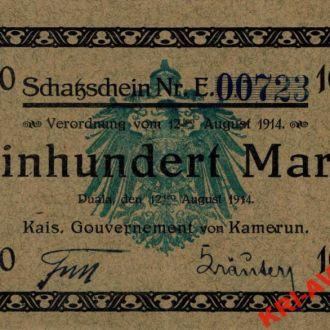 Камерун 100 марок 1914 год. КОПИЯ
