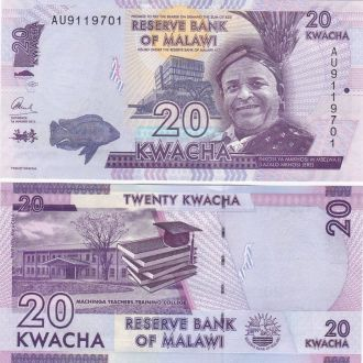 Malawi Малави - 20 Kwacha 01.01. 2015 UNC JavirNV