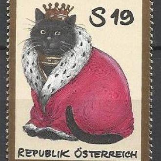 Австрия 2001 фауна кот король 1м.**