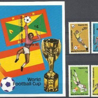 Гренада Гренадинес 1981 футбол чемпионат мира 4м.+