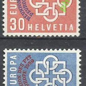 Швейцария 1959 Европа надп. 2м.**
