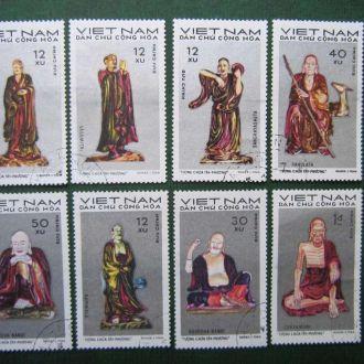 8 марок Вьетнам  искусство буддизм гаш.