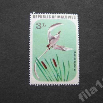 марка Мальдивы птица MNH