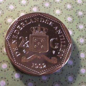 Антилы монета 2 - 1/2 гульдена Антильские 1992 год