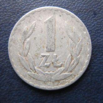 1 злотый Польша 1974