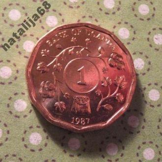 Уганда 1987 год монета 1 шиллинг !