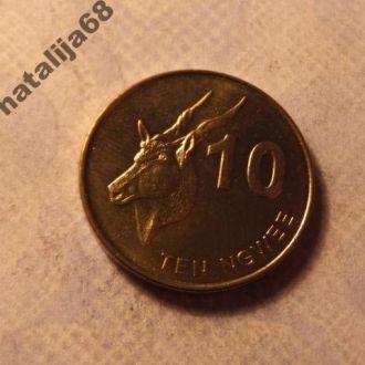 Замбия монета 10 нгве 2012 год !