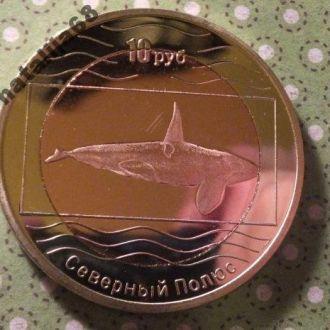 Северный полюс монета 10 рублей биметалл 2012 год !